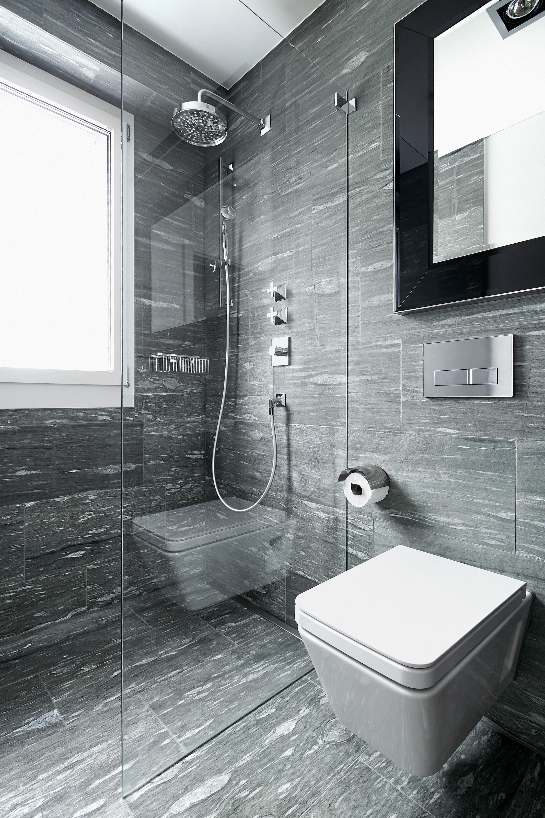dusche mit valser quarzit verlegt kewabo senn. Black Bedroom Furniture Sets. Home Design Ideas